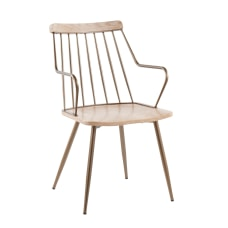 LumiSource Preston Chair White WashedAntique Copper