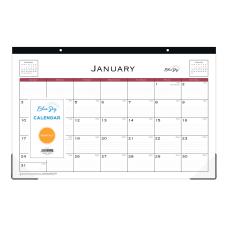 Blue Sky Monthly Desk Pad Calendar