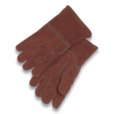 High Heat Gloves ThermaleatherWool Brown Large