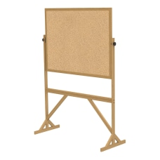 Ghent 2 Sided Cork Bulletin Board