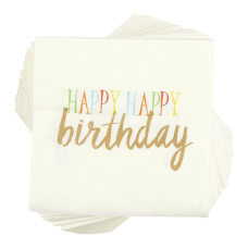 Birthday Party Cocktail Napkins 100 Pack