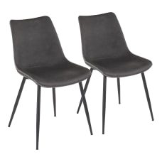 LumiSource Durango Dining Chairs BlackGray Set