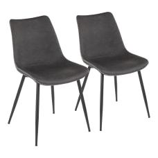 LumiSource Durango Dining Chairs BlackGray Set