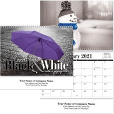 Black White Spiral Wall Calendar