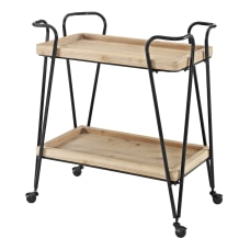 Linon Newell 2 Shelf Bar Cart