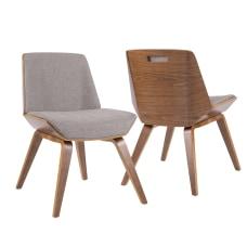 LumiSource Corazza Chair WalnutGray