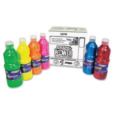 Prang Power Fluorescent Paint Set 16