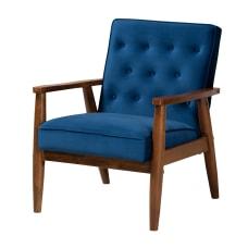 Baxton Studio 9938 Lounge Chair Navy