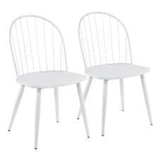 LumiSource Riley High Back Chairs White