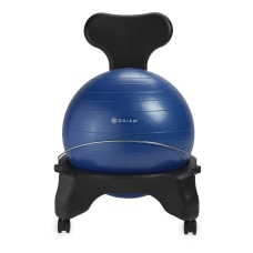 Gaiam Classic Balance Ball Chair Blue
