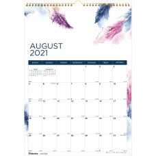 Blueline Boho Academic Monthly Wall Calendar