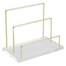 Realspace Acrylic Wire Desk Sorter Letter