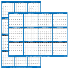SwiftGlimpse Laminated Academic Wall Calendar 24