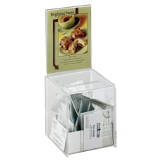Safco Small Acrylic Collection Box 13