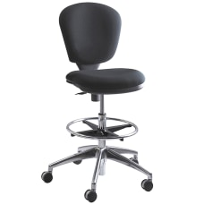 Safco Metro Extended Height Chair ChromeBlack
