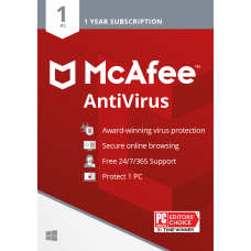 McAfee AntiVirus For 1 PC 1