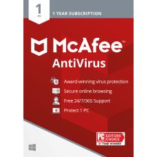 McAfee Antivirus Protection 1 PC Internet