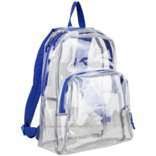 Eastsport Clear PVC Backpack Cobalt