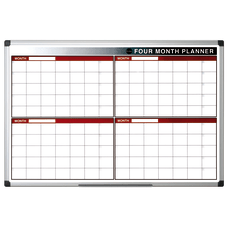 MasterVision 4 Month Dry Erase Planning