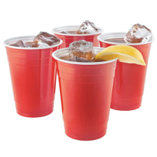 Highmark Plastic Cups 16 Oz Red