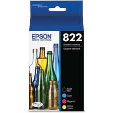 Epson T822 4 pack black yellow