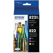 Epson 822XL822 High Yield BlackYellowCyanMagenta Ink