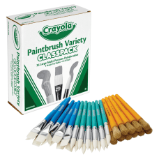 Crayola Paintbrush Variety Classpack 36 Brushes