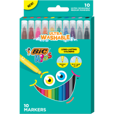 BIC Kids Coloring Markers Assorted Colors