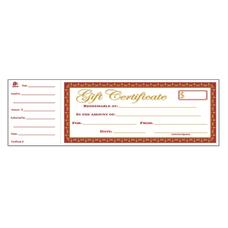 Adams 1 Part Gift Certificates 3