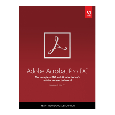 Adobe Acrobat Pro DC 1 Year