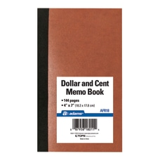 Adams Dollar And Cent Memo Book