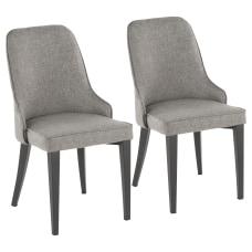 LumiSource Nueva Chairs GrayBlack Set Of