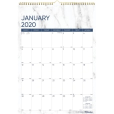 Blueline Marble Wall Calendar Julian Dates