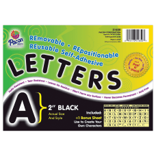 Pacon Self Adhesive Letters 2 Black
