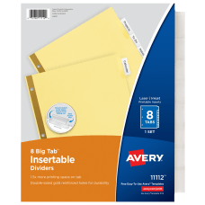 Avery Big Tab Insertable Dividers Gold