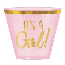 Amscan Oh Baby Girl Plastic Tumblers