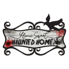 Amscan Halloween Sweet Haunted Home Sign