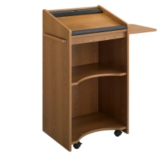 Safco Executive Mobile Lectern Medium Oak