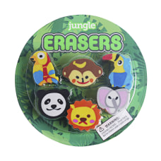 Office Depot Brand Fun Erasers Jungle