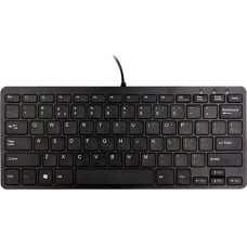 R Go Compact Ergonomic Wired Keyboard