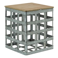 Powell Lucassi Square Metal Side Table