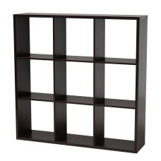 Baxton Studio 9 Cube Storage Shelf