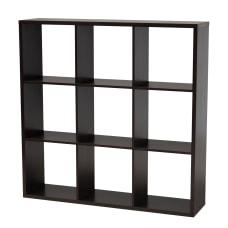 Baxton Studio 9 Cube Storage Shelf