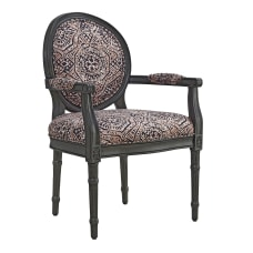 Powell Blyth Accent Chair CharcoalBlushSalmon