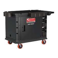 Suncast Commercial Utility Cart Shield Black