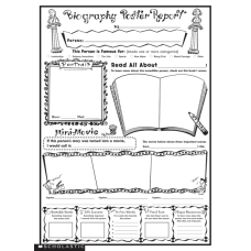 Scholastic Biography Report Posters 17 x