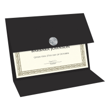 Geographics Recycled Certificate Holder Black 30percent