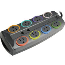 Kensington SmartSockets Color Coded Eight Outlet