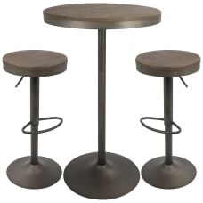 Lumisource Dakota Industrial Farmhouse Table With
