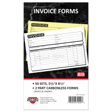 COSCO Service Invoice Form Book With